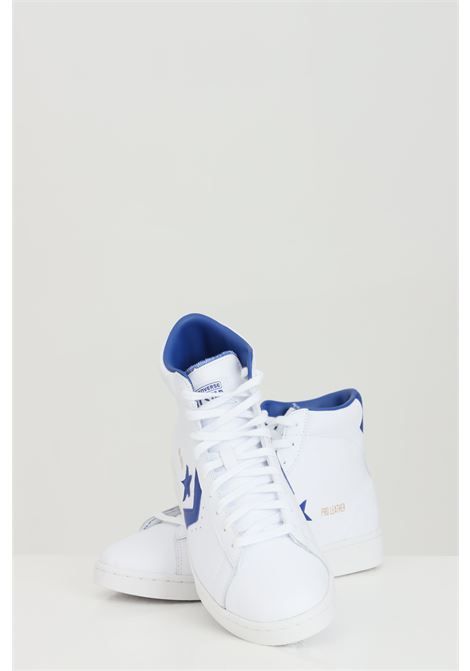White Pro Leather Hi sneakers in solid color with rubber sole and round toe, closure with laces, boot model. Converse CONVERSE | Sneakers | 170359C.