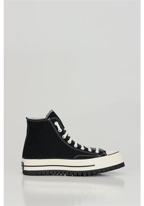 Black CHUCK 70 CANVAS LTD sneakers in solid color with rubber sole and round toe, closure with laces, boot model. Converse  CONVERSE | Sneakers | 171015CC911