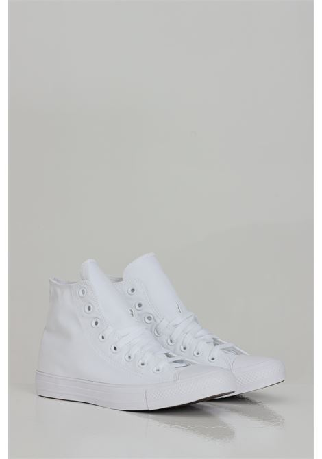 White Chuck Taylor ALL STAR sneakers with rubber sole and round toe, closure with laces. Boot model. Converse  CONVERSE | Sneakers | 1U646.