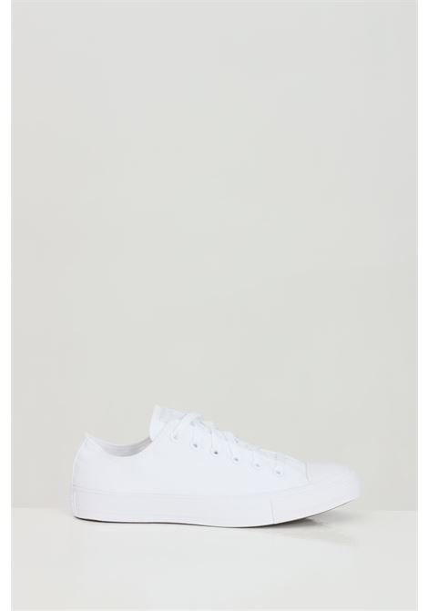 White CT AS SP OX WHITE sneakers in solid color with rubber sole and round toe, closure with laces. Basic model. Converse CONVERSE | Sneakers | 1U647.