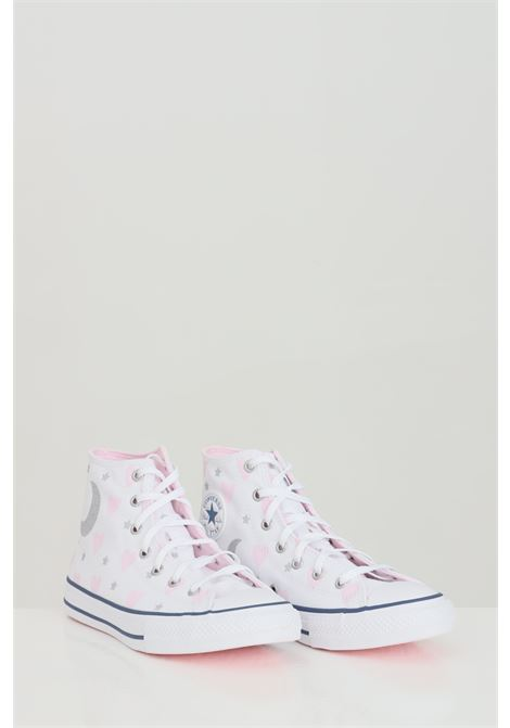 White sneakers with allover print, closure with laces. Baby model. Converse CONVERSE | Sneakers | 671094C.