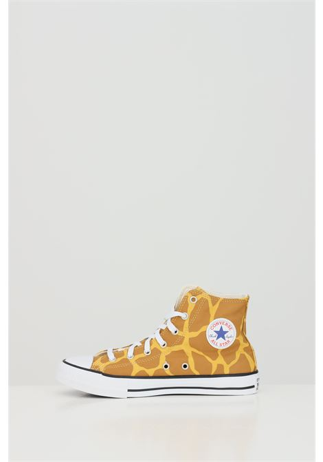 Yellow sneakers with laces closure, rubber sole and round toe. Baby model. Converse CONVERSE | Sneakers | 671103C.