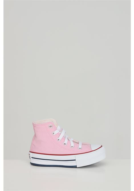 Pink sneakers with high para. Boot model with laces closure. Rubber sole and logo patch, closure with laces. Baby model. Converse chuck taylor all star CONVERSE | Sneakers | 671106C.