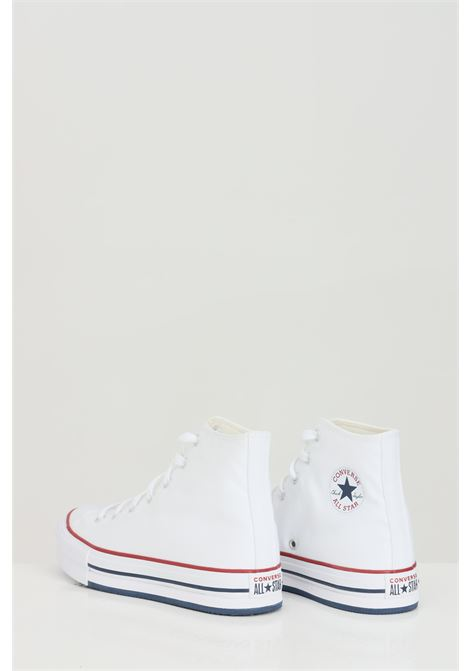 White CTAS EVA LIFT HI sneakers in solid color with rubber sole and colored bands, closure with laces. Converse CONVERSE | Sneakers | 671108C.