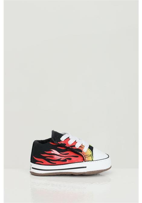 Sneakers ctas cribster mid neonato rosso-nero converse stampa fiamma CONVERSE | Sneakers | 870414C.