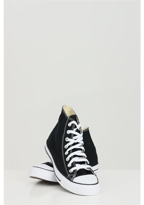 Black ALL STAR HI sneakers in solid color with rubber sole and round toe, boot model with laces. Converse  CONVERSE | Sneakers | M9160C.