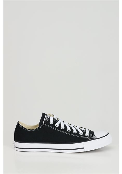 Black chuck taylor all star sneakers with rubber sole and round toe, basic model with laces. Converse  CONVERSE | Sneakers | M9166C.