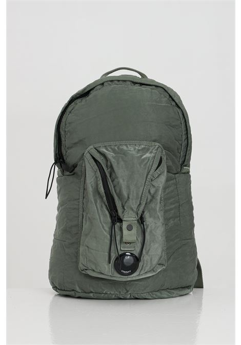 Green camo backpack with zip and front pocket C.P. COMPANY | Backpack | 10CMAC088A-005269G668
