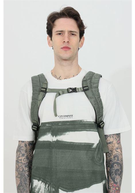 Zaino uomo grigio cp company con doppia tasca, chiusura con zip C.P. COMPANY | Zaini | 10CMAC088A-005269G668