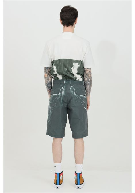 Grey shorts with groove print, high waist. C.p. company C.P. COMPANY | Shorts | 10CMBE215A-005990P668