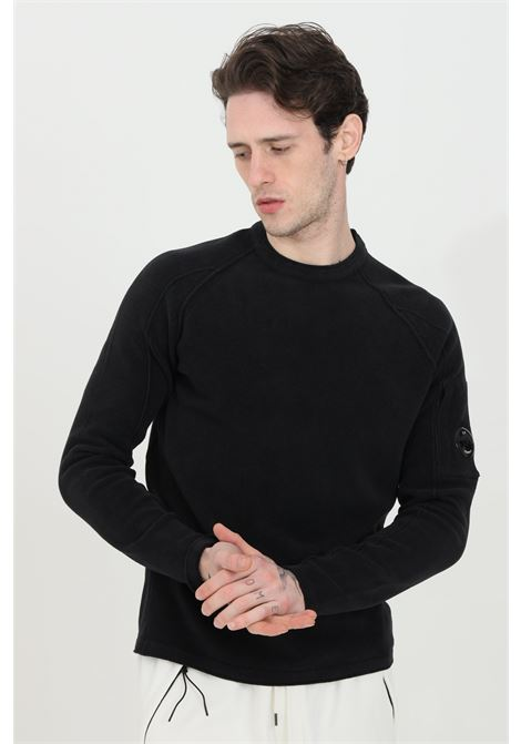 Crew neck sweater in solid color C.P. COMPANY | Knitwear | 10CMKN264A-005687G999