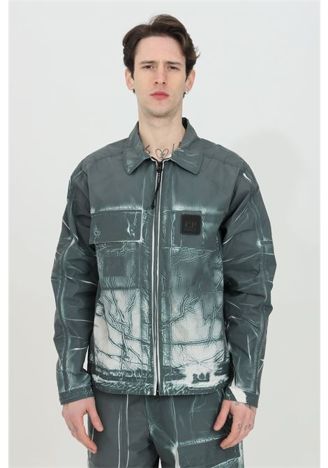 Grey wind jacket with groove print and full zip. C.p. company C.P. COMPANY | Jacket | 10CMOS112A-005990P668