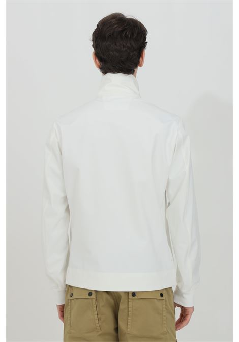 White wind jacket with high neck and integral zip. C.p. company C.P. COMPANY | Jacket | 10CMOW167A-005968A103