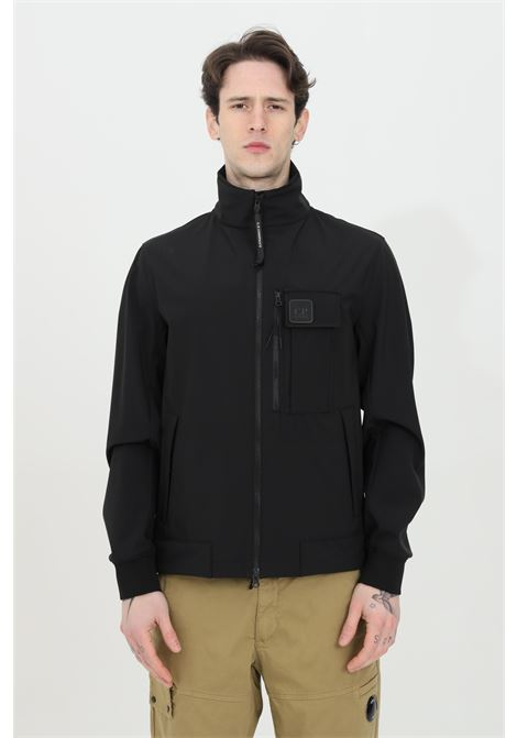Black wind jacket with high neck and integral zip. C.p. company C.P. COMPANY | Jacket | 10CMOW167A-005968A999