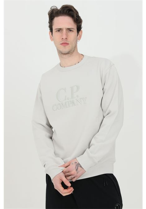 Grey sweatshirt in heavy fabric with long sleeves. Comfortable fit. C.p. company C.P. COMPANY | Sweatshirt | 10CMSS097A-005994W906