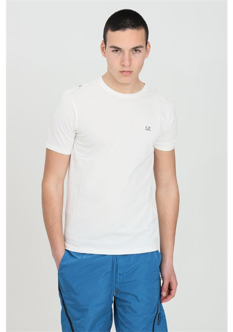 White t-shirt with print on the back, short sleeves. Regular fit. C.p. company C.P. COMPANY | T-shirt | 10CMTS037A-005100W103