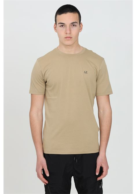 Beige t-shirt with print on the back, short sleeves. Regular fit. C.p. company C.P. COMPANY | T-shirt | 10CMTS037A-005100W329