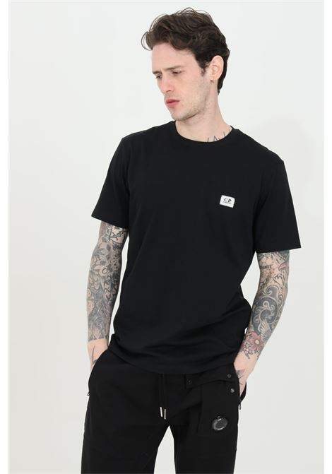 Black t-shirt with front logo, short sleeves. Slim fit model. C.p. company C.P. COMPANY | T-shirt | 10CMTS063A-005100W999