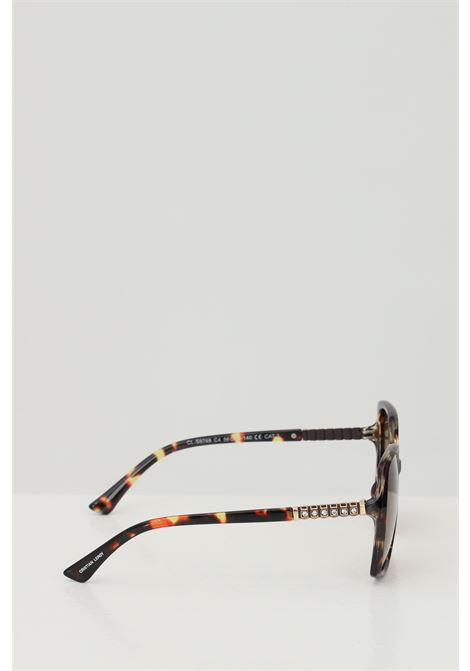 Occhiali da sole unisex in tinta unita Cristian Leroy con strass sulle aste CRISTIAN LEROY | Sunglasses | 976804