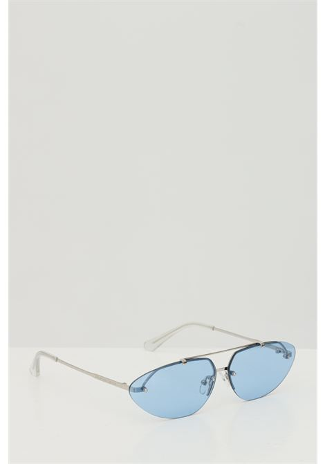 Occhiali da sole unisex Blue-Silver Cristian Leroy con aste sottili CRISTIAN LEROY | Sunglasses | 983501