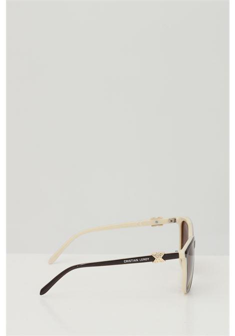 Occhiali da sole unisex marrone Cristian Leroy con applicazioni sulle aste CRISTIAN LEROY | Sunglasses | 984702