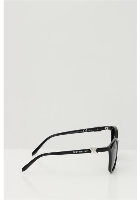 Occhiali da sole unisex nero Cristian Leroy con applicazioni sulle aste CRISTIAN LEROY | Sunglasses | 984703
