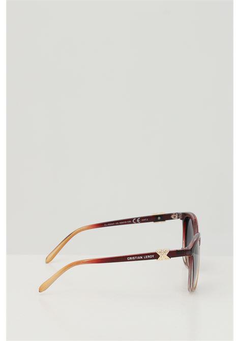 Occhiali da sole unisex rosso multicolor Cristian Leroy con applicazioni sulle aste CRISTIAN LEROY | Sunglasses | 984705