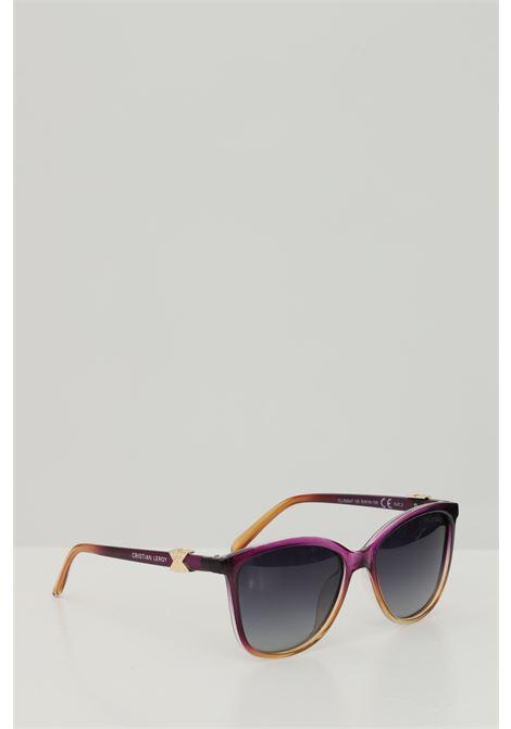 Occhiali da sole unisex fucsia multicolor Cristian Leroy con applicazioni sulle aste CRISTIAN LEROY | Sunglasses | 984706