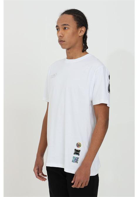 T-shirt uomo bianco Disclaimer a manica corta e stampa sul retro DISCLAIMER | T-shirt | 21EDS50610BIANCO/NERO