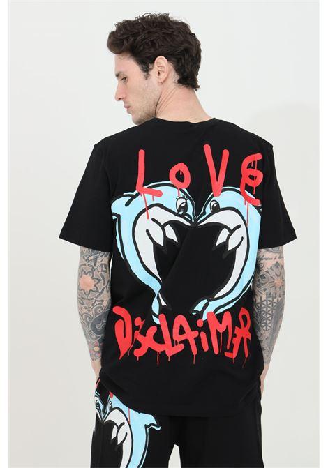 T-shirt uomo nero Disclaimer a manica corta e maxi stampa sul retro DISCLAIMER | T-shirt | 21EDS50616NERO
