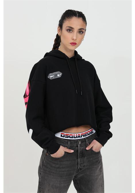Sweatshirt with hood and laces. Maxi print on the back DISCLAIMER | Sweatshirt | 21EDS50630NERO