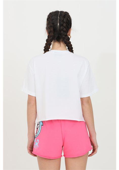T-shirt donna bianco Disclaimer a manica corta e maxi stampa serigrafica sul fronte DISCLAIMER | T-shirt | 21EDS50632BIANCO