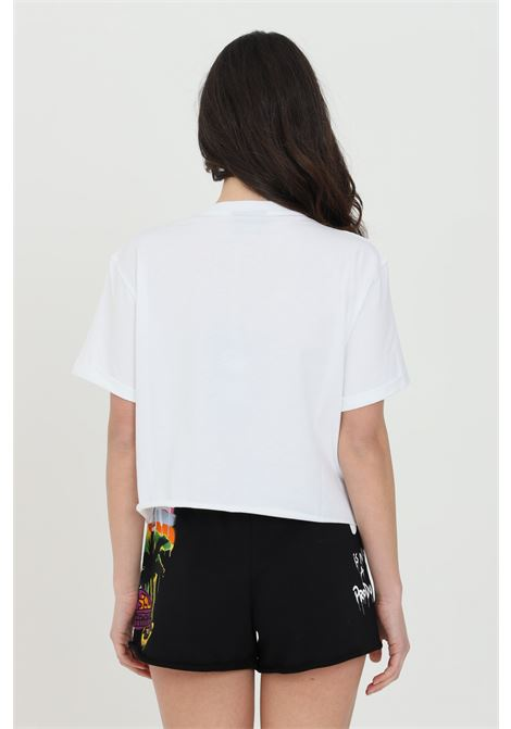 White T-shirt with short sleeves and front print.Disclaimer