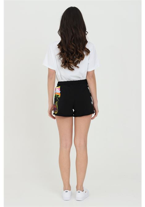 Black shorts Printed Casual Disclaimer with Elastic Band Adjustable Waist with Laces.Disclaimer DISCLAIMER | Shorts | 21EDS50644NERO