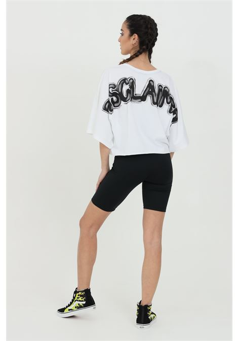 Black t-shirt with short sleeves and over sleeves. Maxi print on the back.Disclaimer DISCLAIMER | T-shirt | 21EDS50647BIANCO