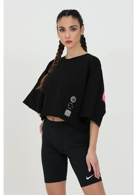 T-shirt with maxi print on the back. Oversized sleeves. DISCLAIMER | T-shirt | 21EDS50647NERO