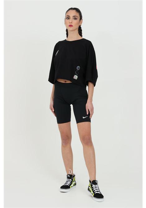 T-shirt donna uomo Disclaimer a manica corta con taglio corto e manica over.Maxi stampa sul retro DISCLAIMER | T-shirt | 21EDS50647NERO