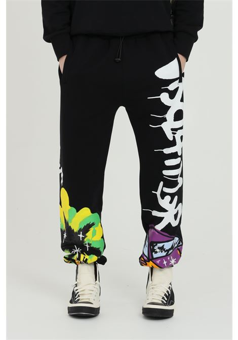 Casual trousers with waist elastic band and graffiti print DISCLAIMER | Pants | 21EDS50656NERO