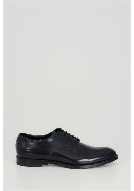 Scarpa uomo nera doucal's stringata in pelle DOUCAL'S | Party Shoes | DU1003MONZUF028NB00