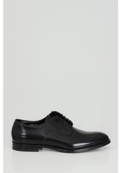 Scarpa uomo nera doucal's stringata in pelle DOUCAL'S | Party Shoes | DU1003MONZUF028NN00