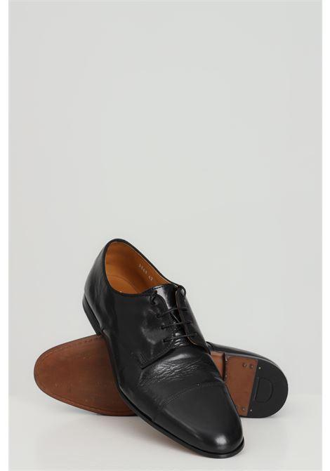 Scarpa uomo nera doucal's stringata in pelle DOUCAL'S | Party Shoes | DU2365CAPRPF254NN00