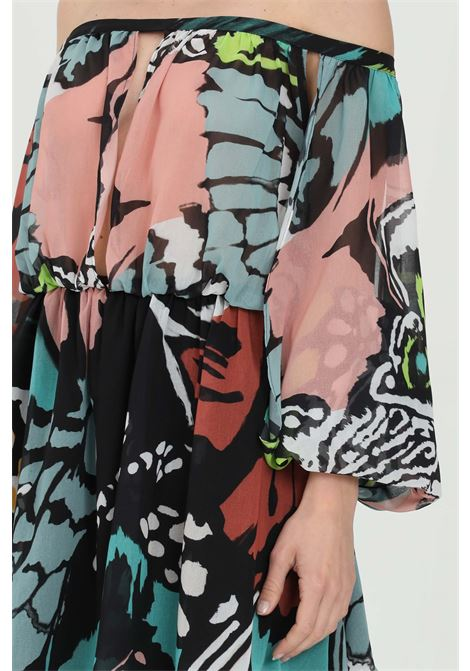 Printed dress with boat neck DRAMèE | Dress | D21066.