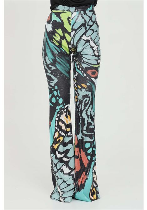 Casual trousers with sequin print, side zip closure DRAMèE | Pants | D21069.