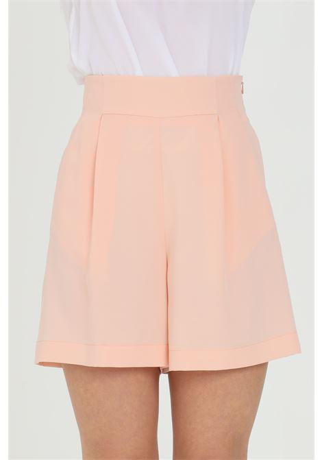 Shorts donna rosa dramee elegante chiusura con zip laterale DRAMèE | Shorts | D21071ROSA