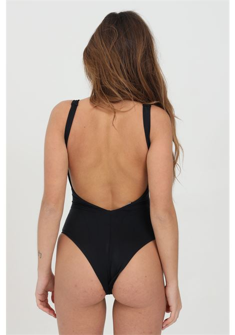 One-piece swimsuit with front logo print. Solid color DSQUARED2 | Beachwear | D6BG12830014