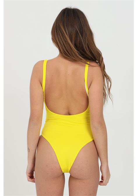 One-piece swimsuit with central logo band and concealed zip DSQUARED2 | Beachwear | D6BGC2910730