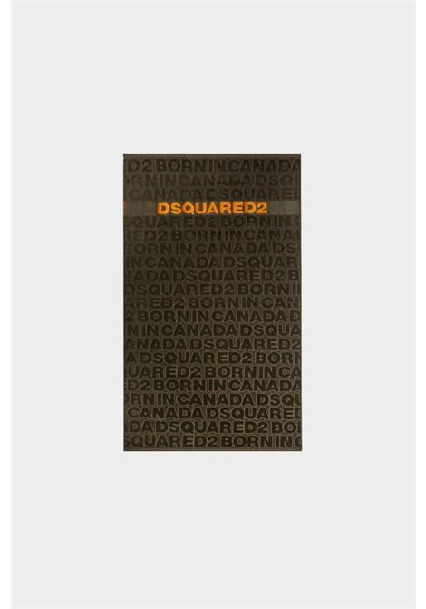 Green-orange beach towel with embroidered logo in contrast. Dsquared2 DSQUARED2 |  | D7P002980304