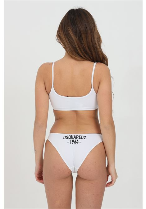 White slip with print on the back. Dsquared2 DSQUARED2 | Slip | D8L613460110