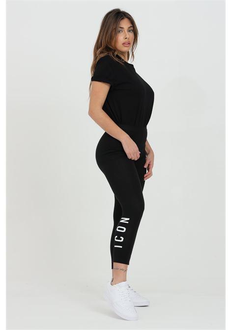 Leggings tinta unita con molla in vita DSQUARED2 | Leggings | D8N473450010