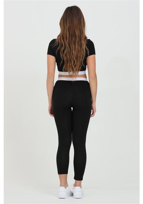 Leggings donna nero dsquared2 con molla in vita logata, modello slim DSQUARED2 | Leggings | D8N473470010